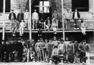 Gruppenbild nach Fertigstellung des Rohbaues